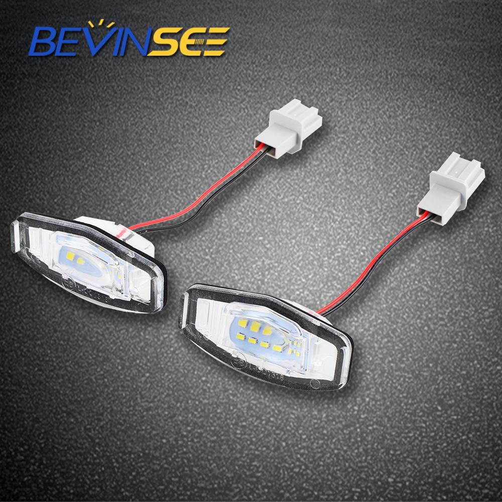 White LED License Plate Light For Honda Accord Civic City