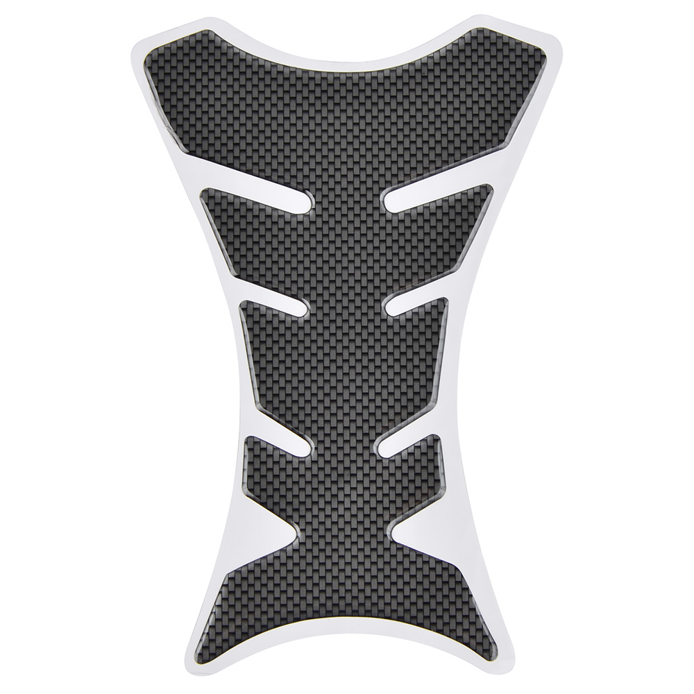 3D Carbon Fiber Motorcycle Oil Gas Fuel Tank Protector Fit Gel Pad Sticker Decal